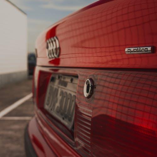 Red Audi Quatrro Car