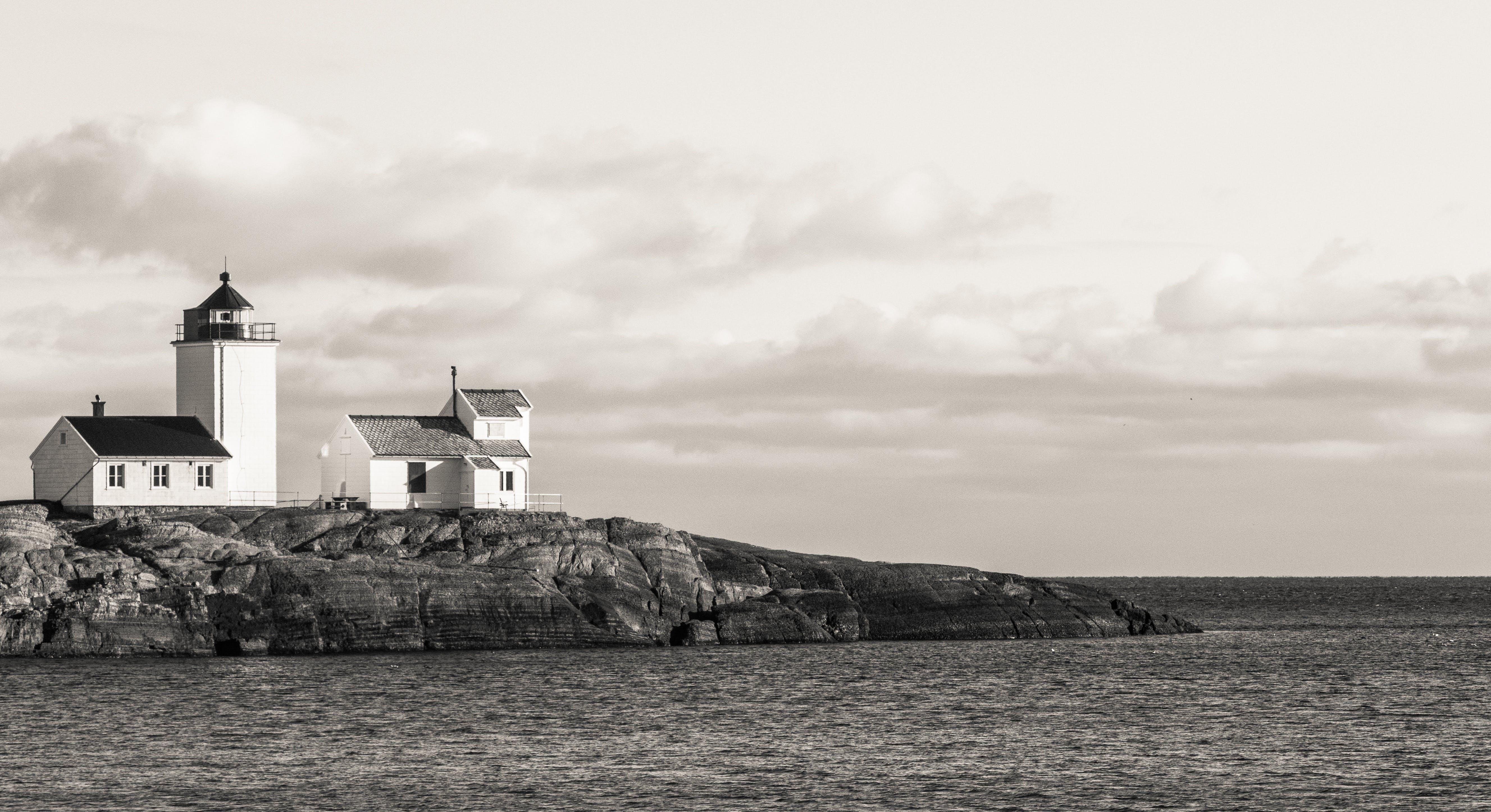 シースケープ, ビーチ, 光, 山の無料の写真素材