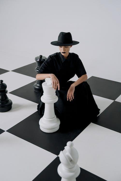 Free stock photo of achievement, black queen, board game