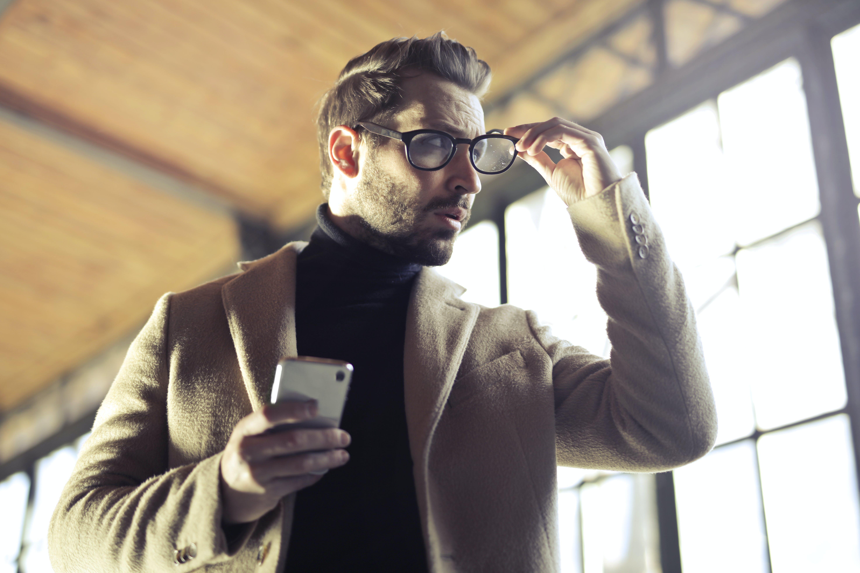 Free stock photo of businessman, fashion, man, smartphone