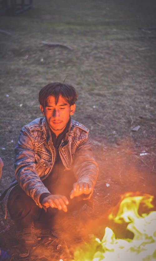 Free stock photo of bonfire, fire, jacket, kind