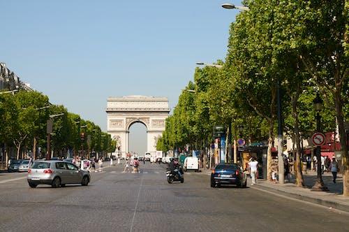 The Arch de Triomphe Monument in Paris Franve