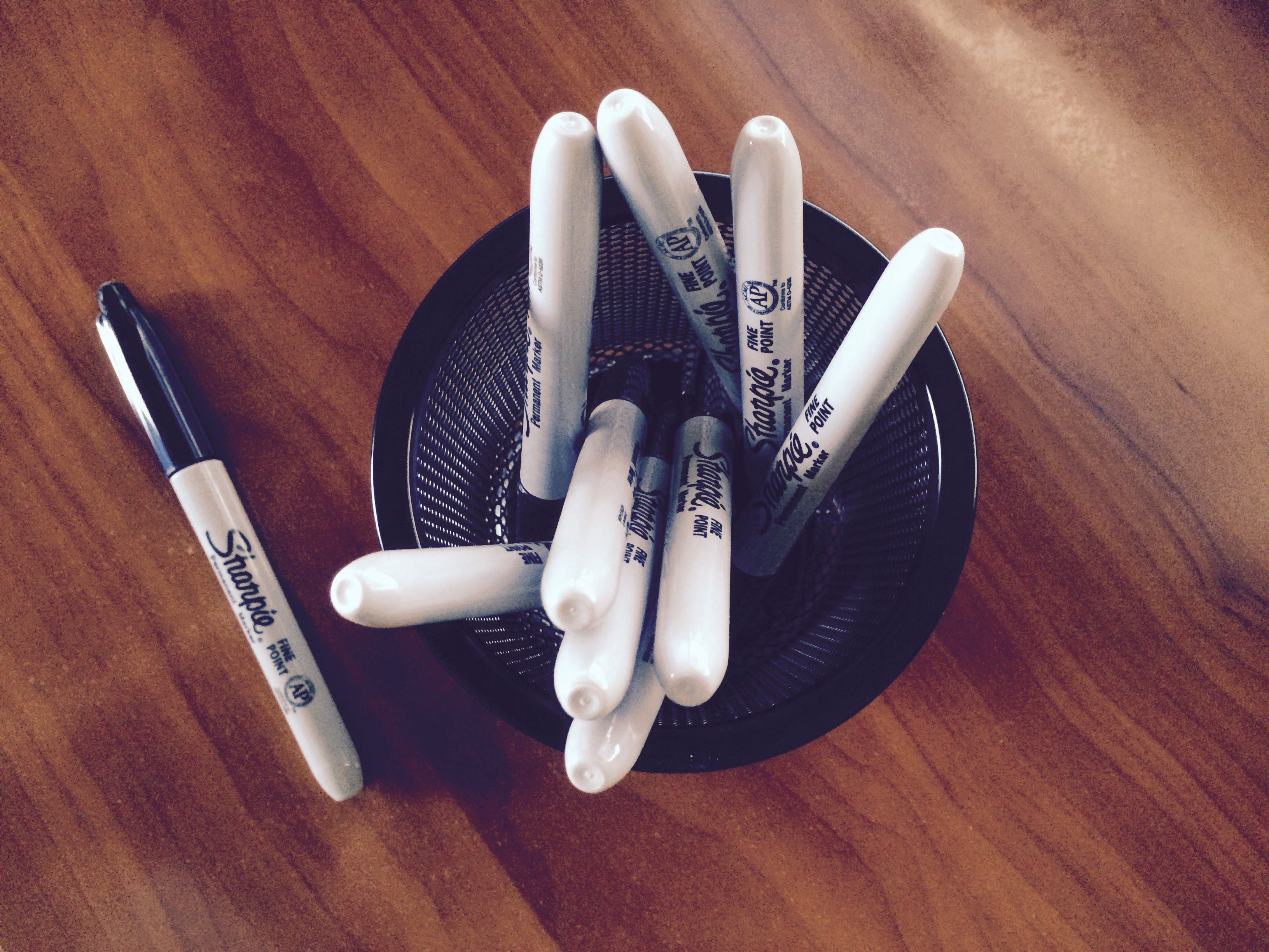 White Sharpie Markets on Table