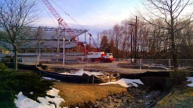 Free stock photo of construction, stream, spibg