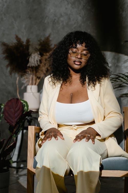 Ingyenes stockfotó afro-amerikai nő, beltéri, divat témában