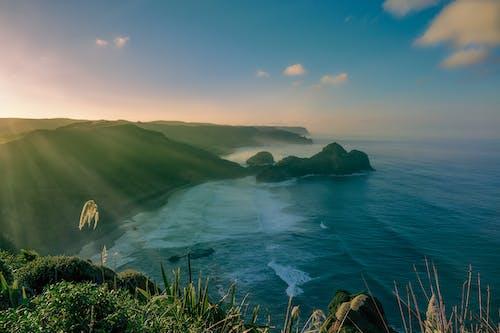 Foto stok gratis air, alam, awan, gelombang