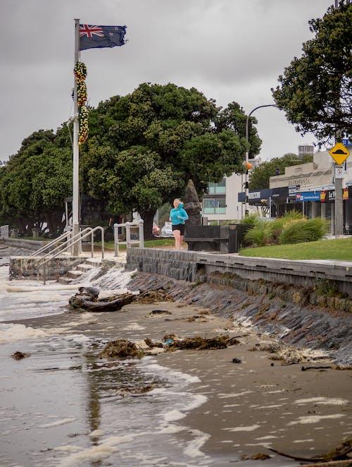 Foto profissional grátis de auckland, chuva, mar, tempestade