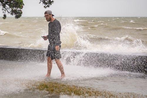 Free stock photo of auckland, sea, spray, storm