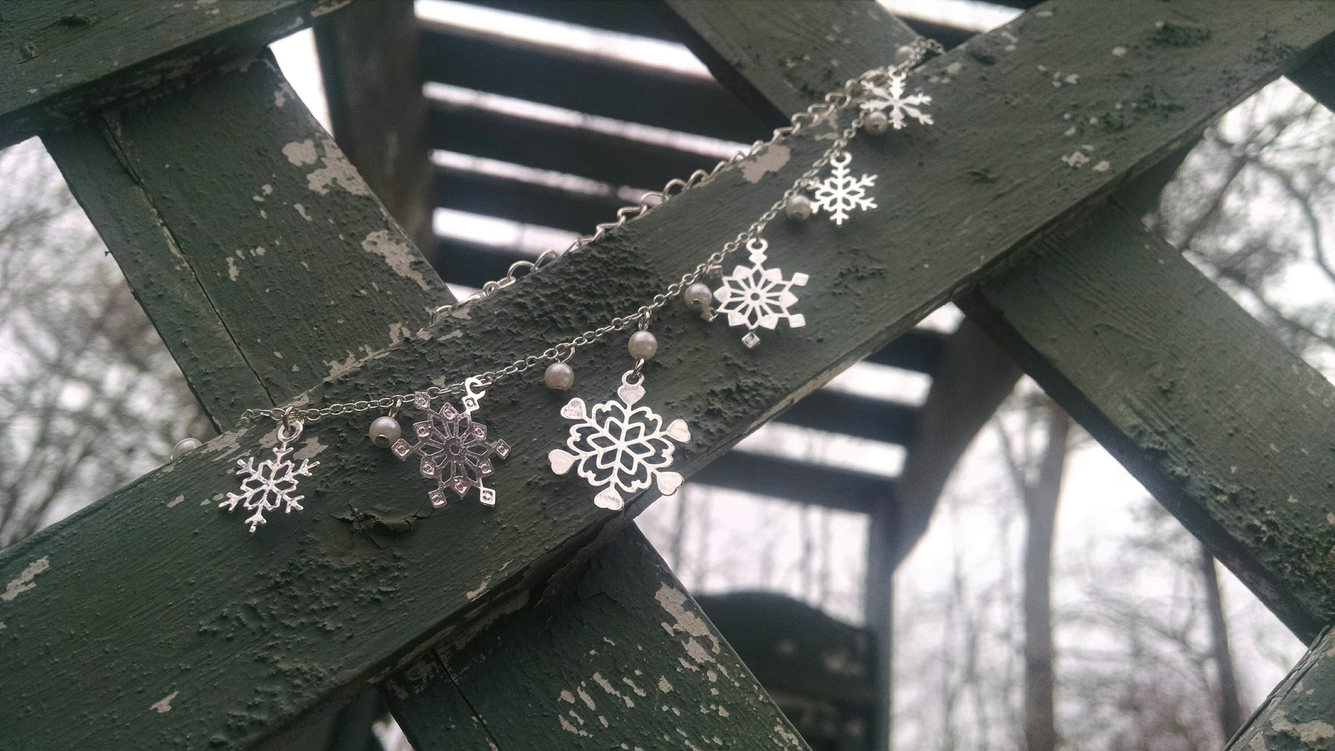 Free stock photo of snow, jewelry, necklace, snowflakes