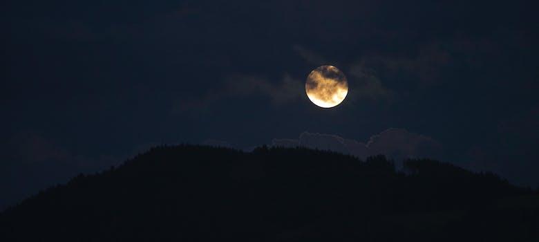 Free stock photo of sky, night, dark, moon