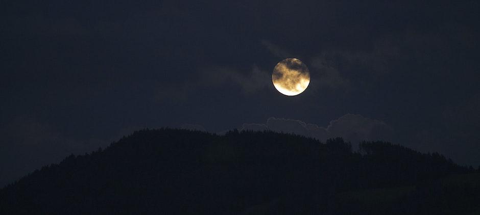 black wallpaper, dark, full moon