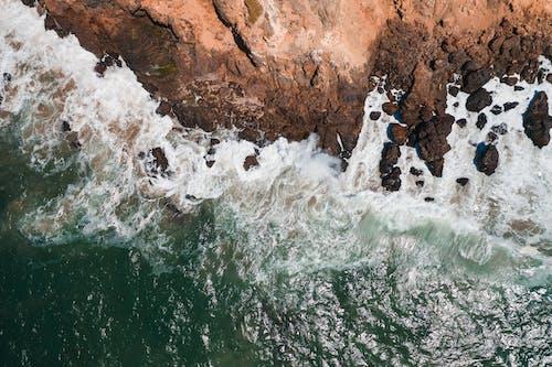 俯視圖, 岩石海岸, 招手 的 免费素材图片