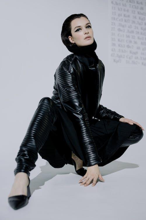 Free stock photo of black rook, brunette, chess fashion