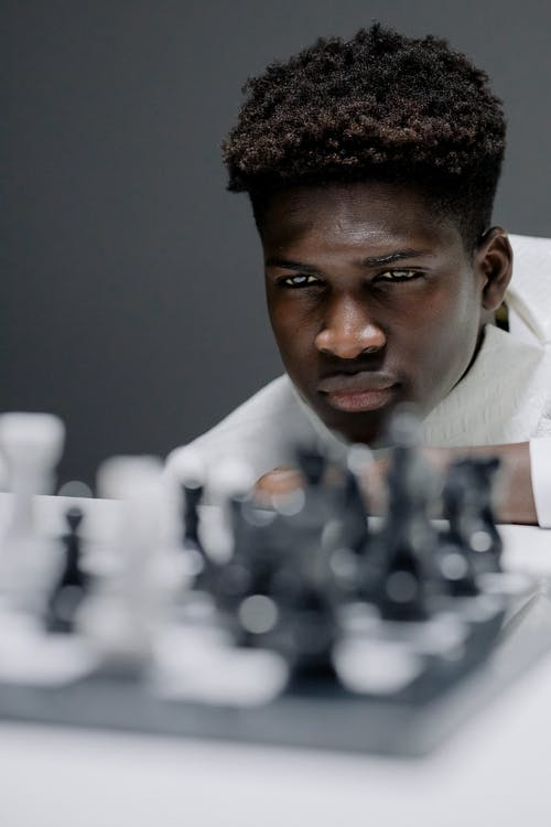 A Chess Player Thinking His Next Moves