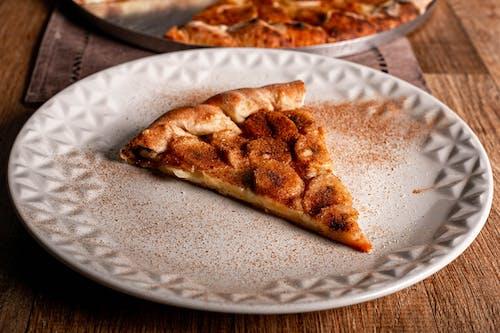 Sliced of Pizza Pie on White Ceramic Round Plate
