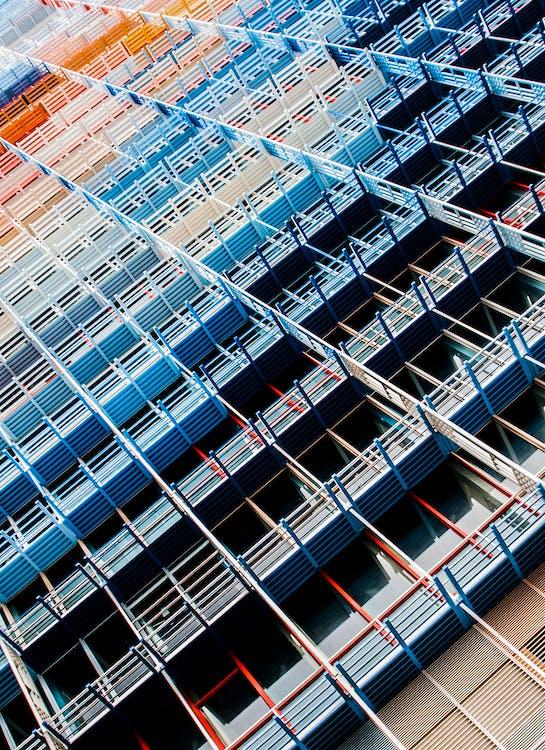 architektura, budynek, kolory