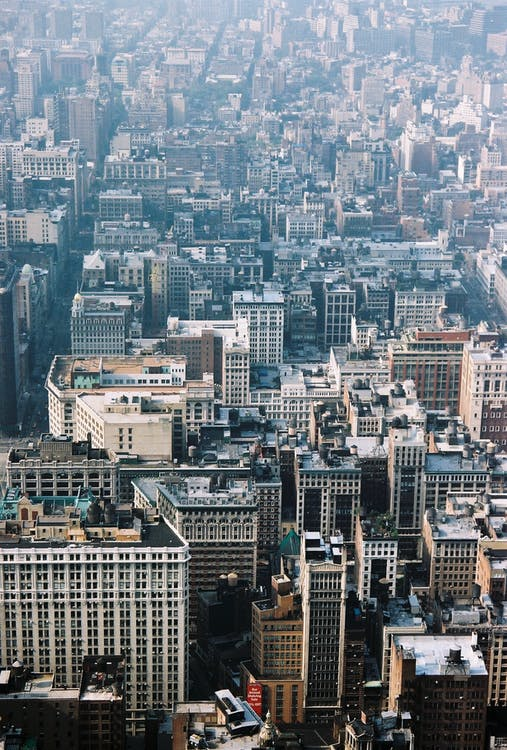 arquitectura, cel, centre de la ciutat
