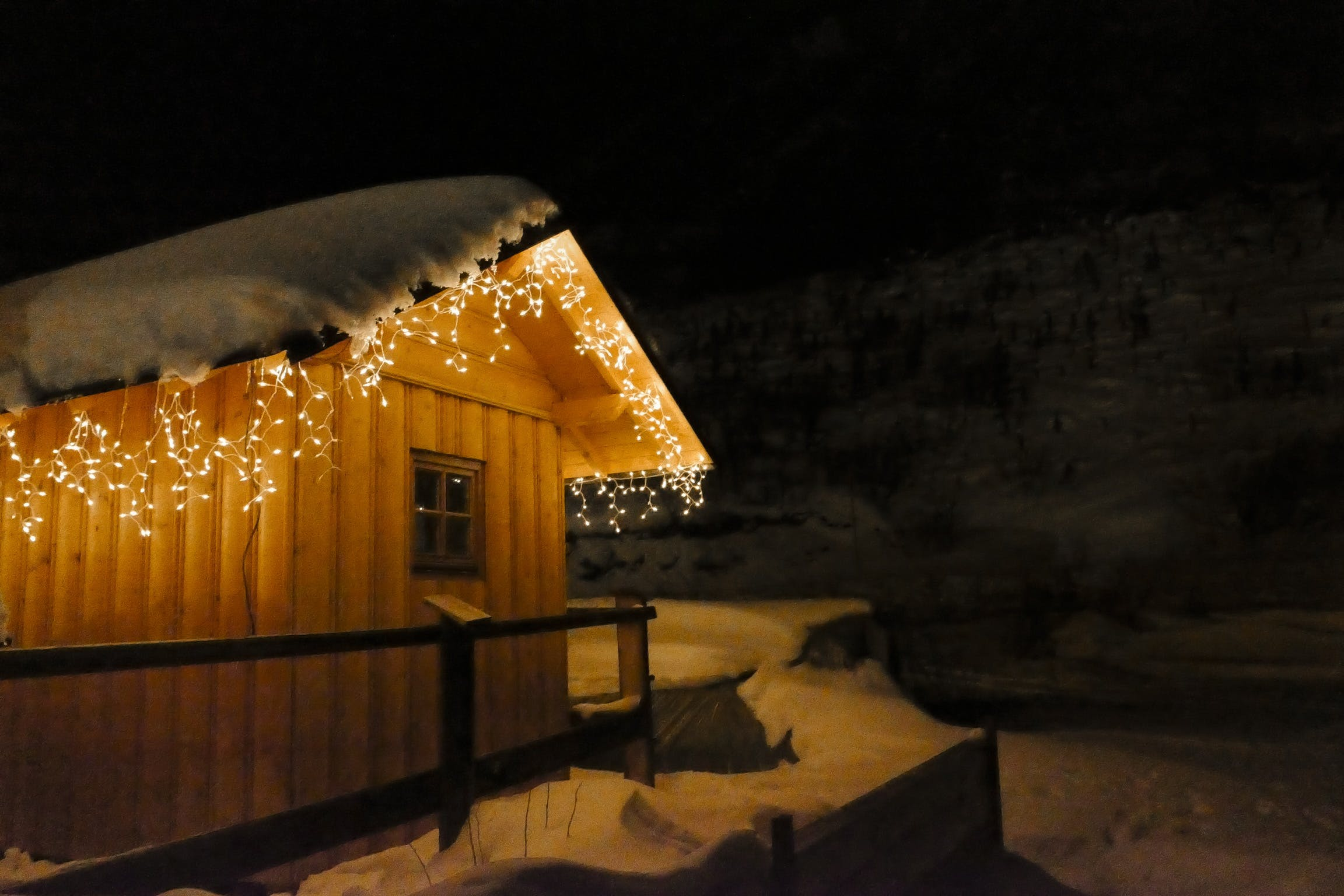 Free stock photo of lights, night, orange, ski resort