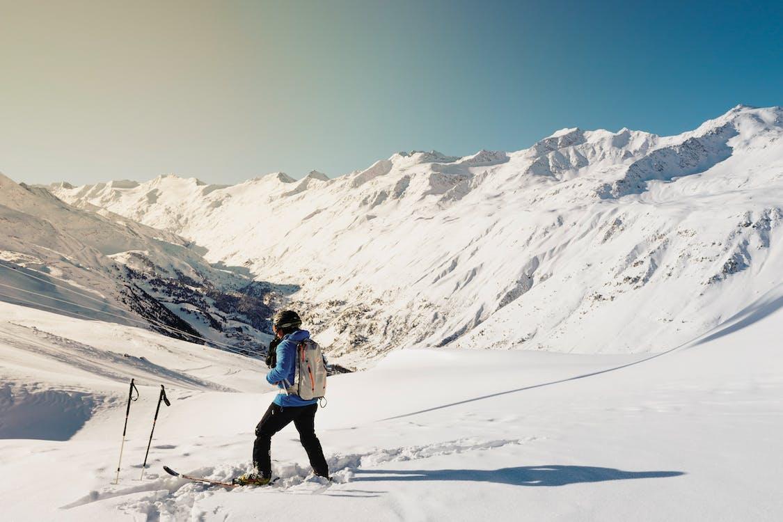 flunssa, henkilö, hiihtää