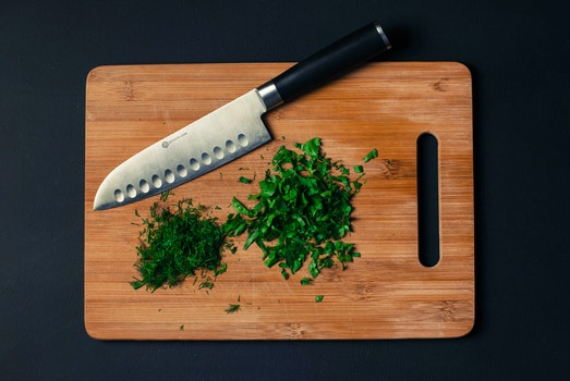 Free stock photo of food, cutting board, knife, sliced