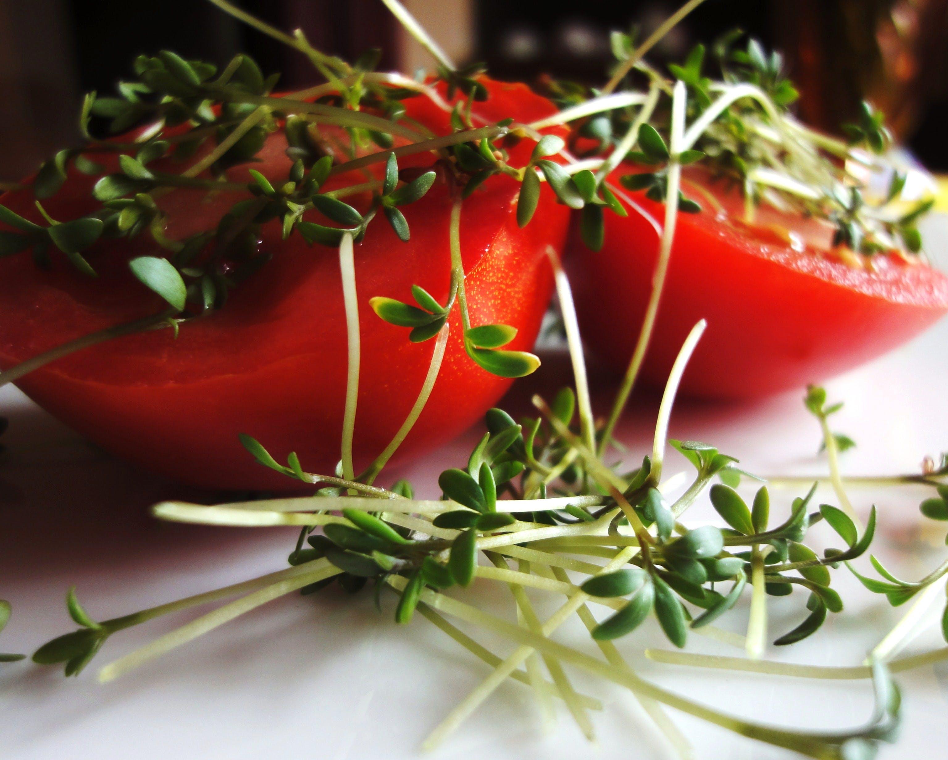 Red Food and Leaf Vegetable