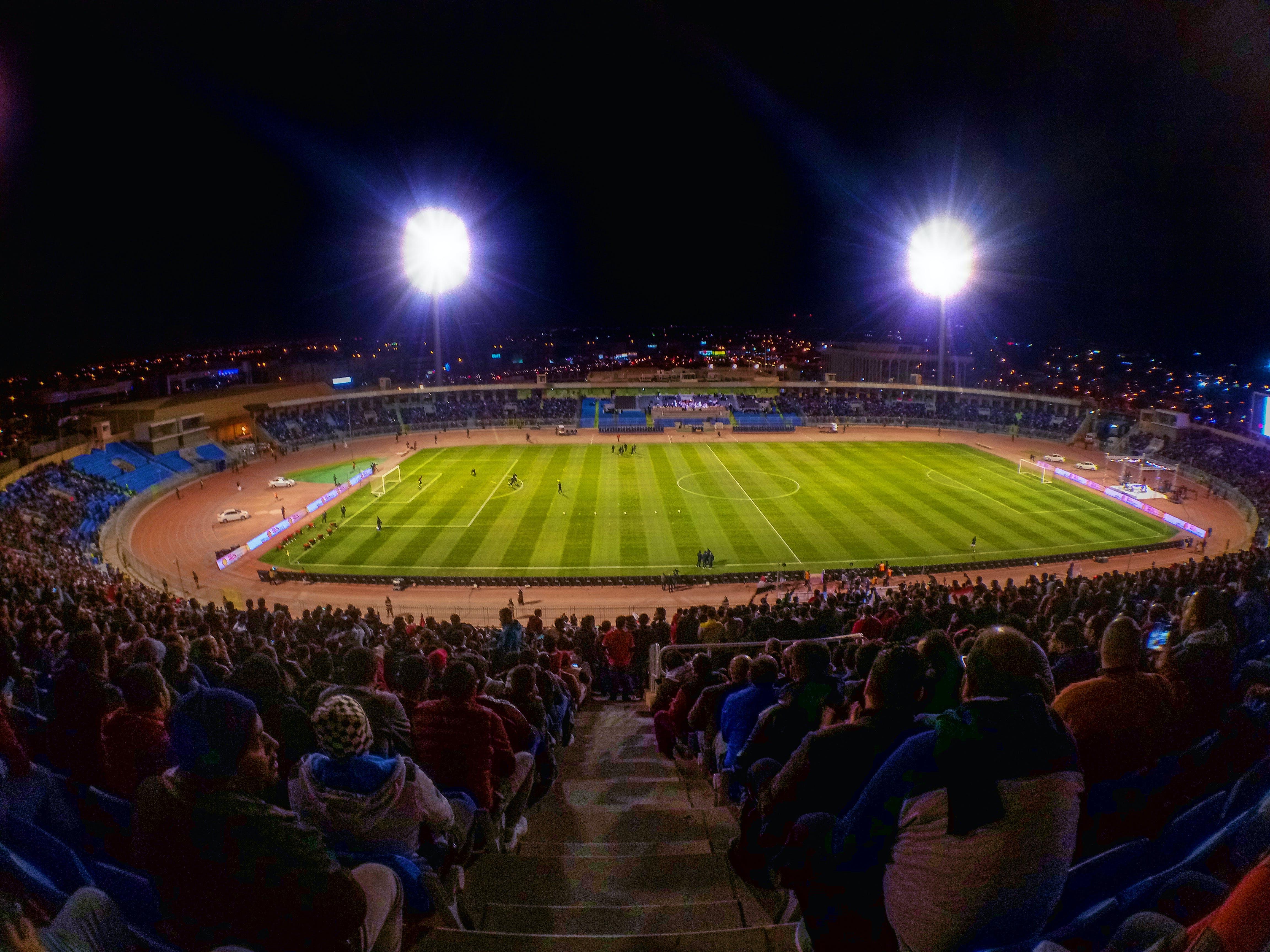 Free stock photo of football, lights, outdoor, saudi