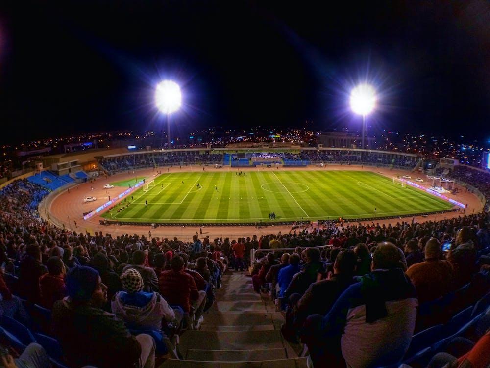 bóng đá, đèn, ngoài trời