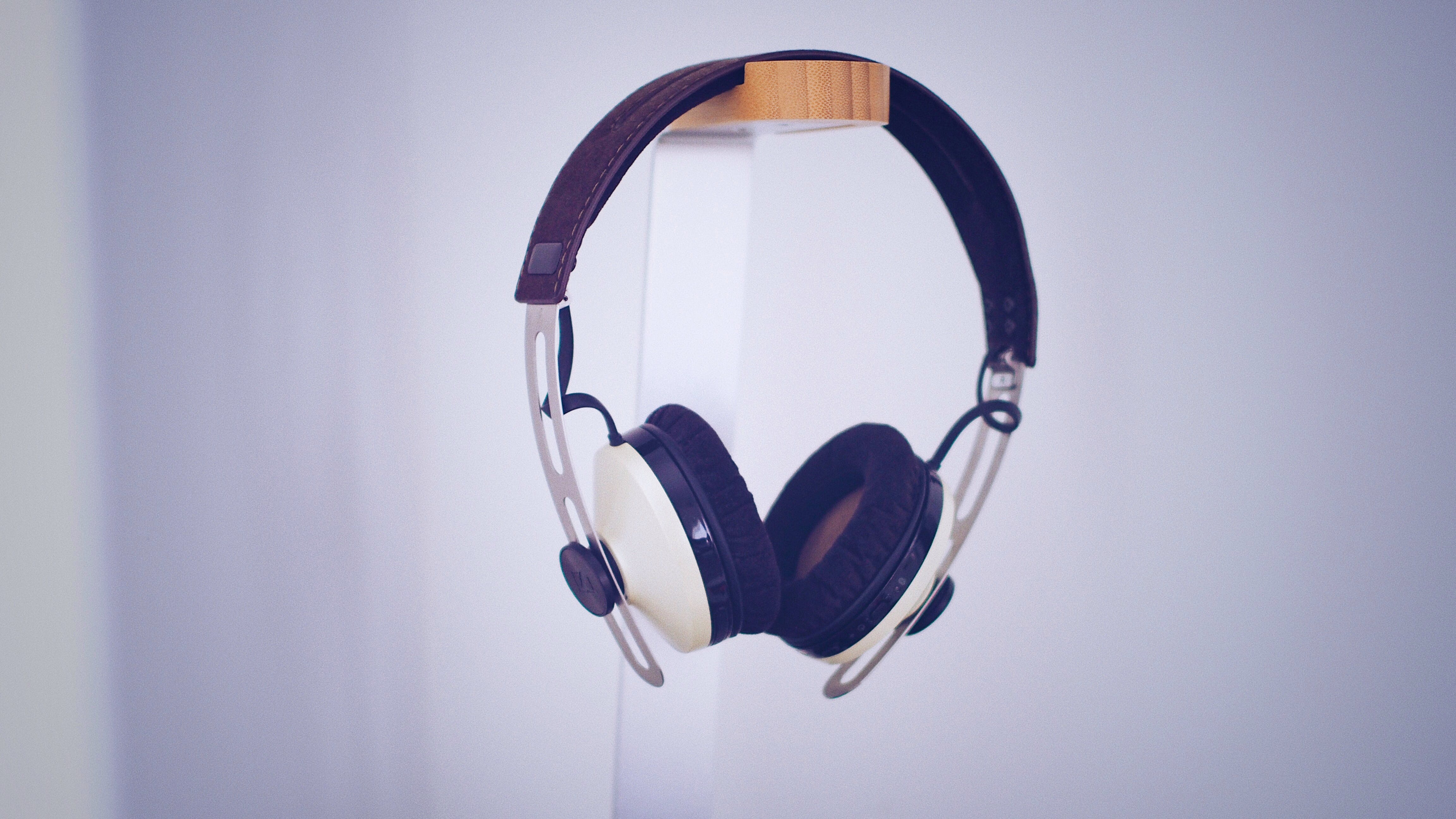 Black and White Wireless Headphones