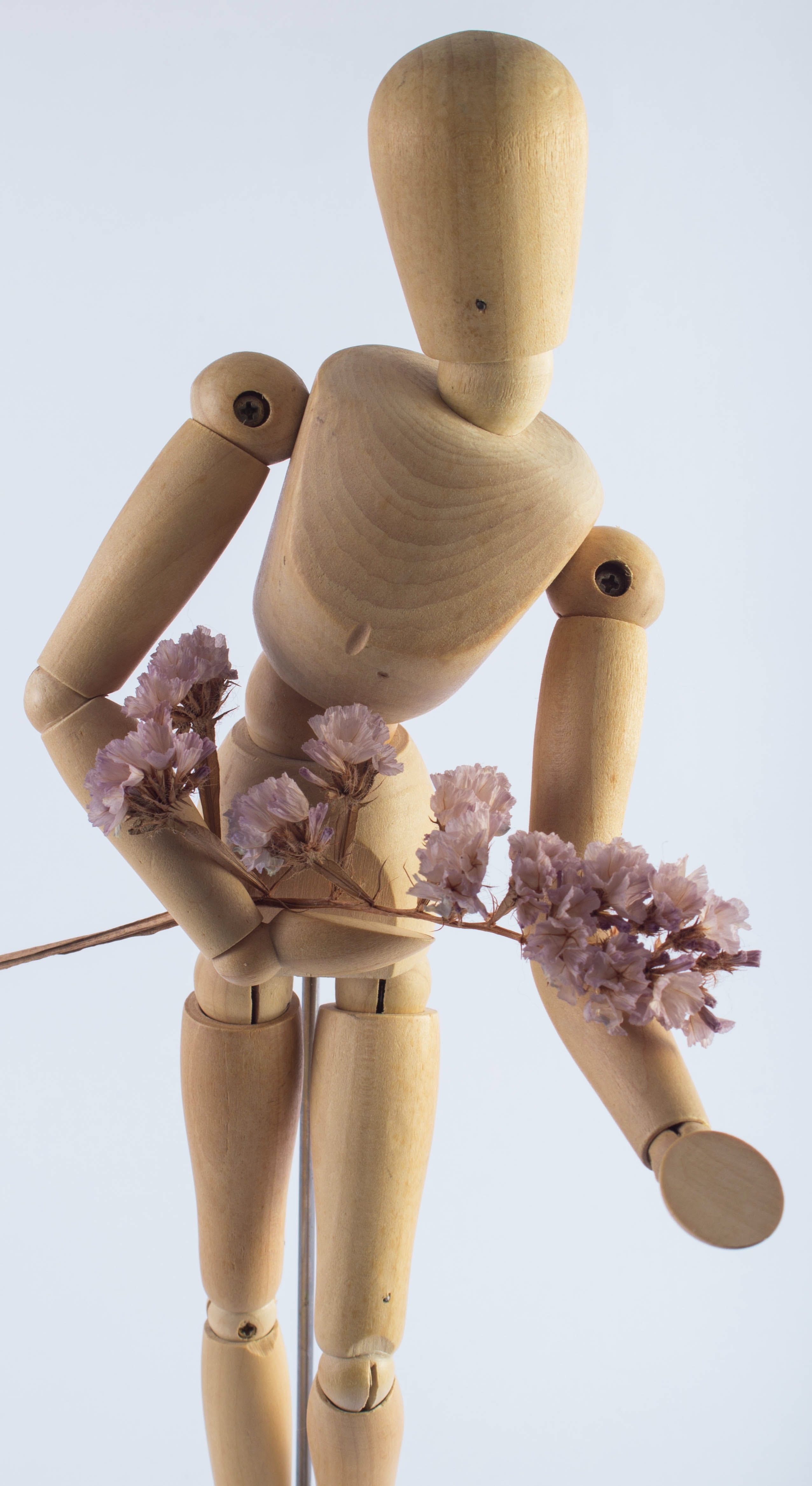 Brown Wooden Human Shaped Decor