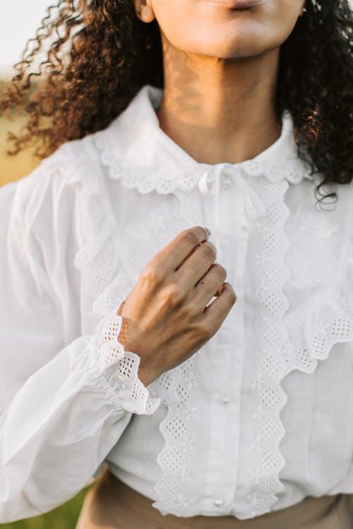Foto stok gratis anak, anggun, baju putih