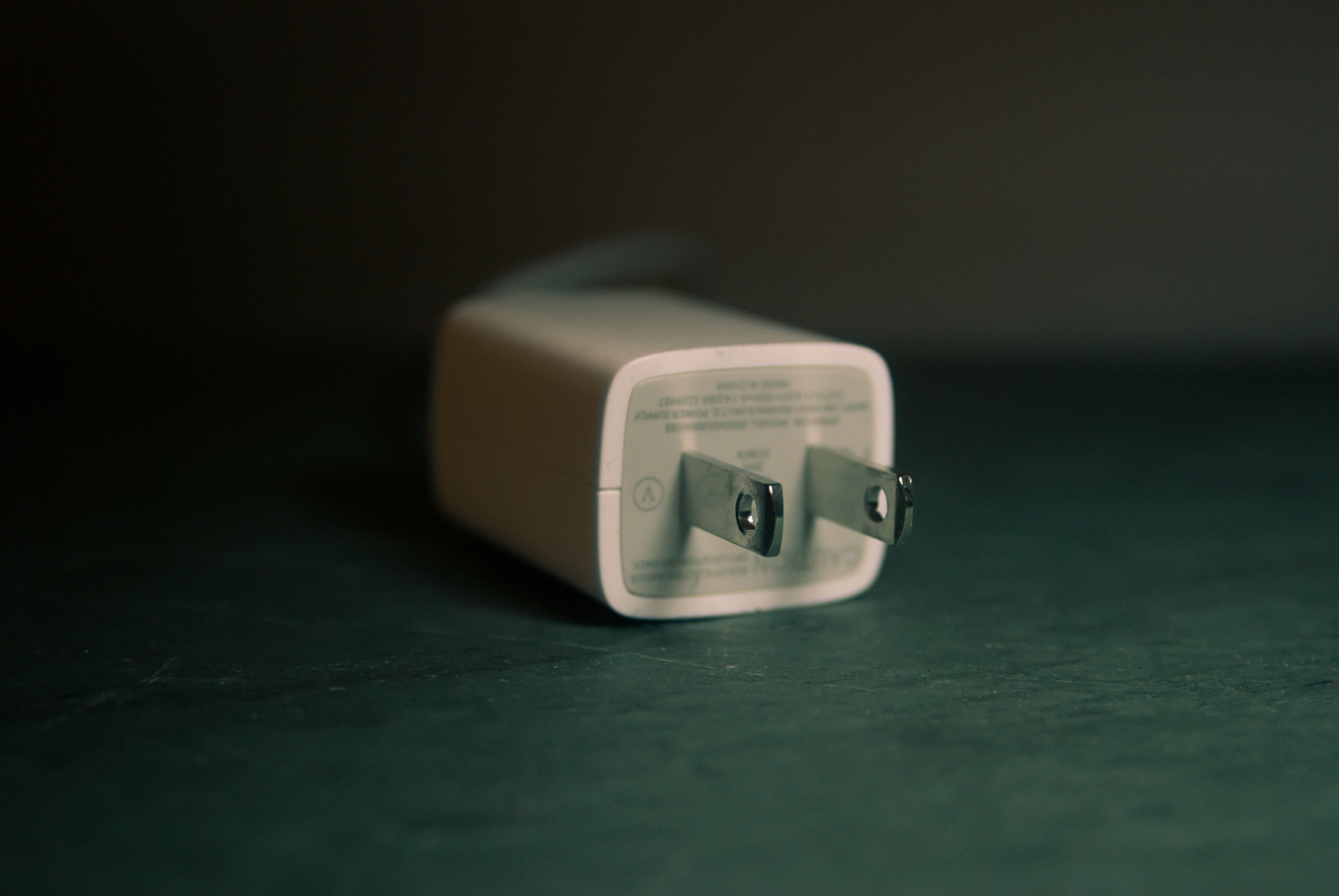 White Travel Adapter