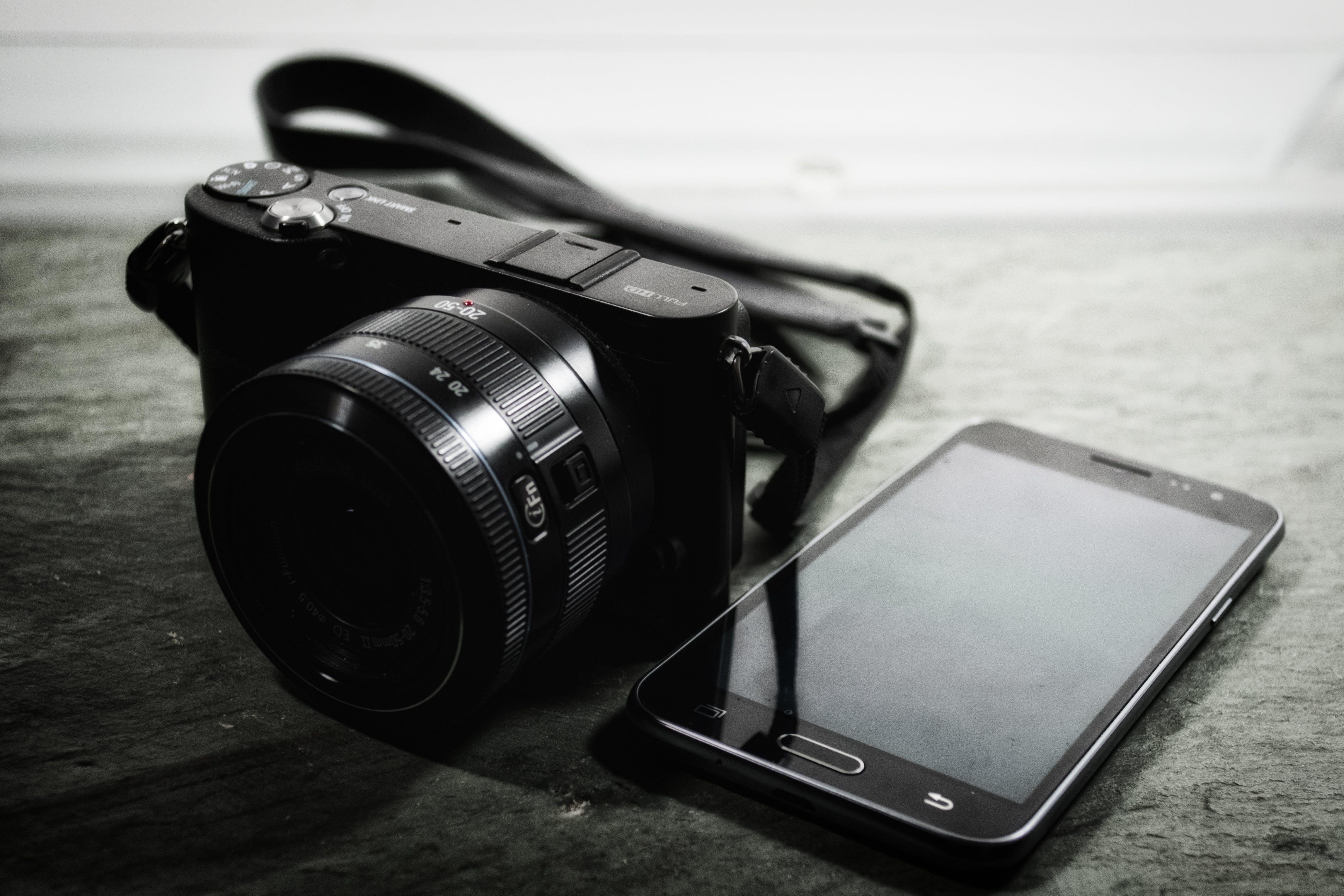 Bridge Camera Beside Samsung Smartphone
