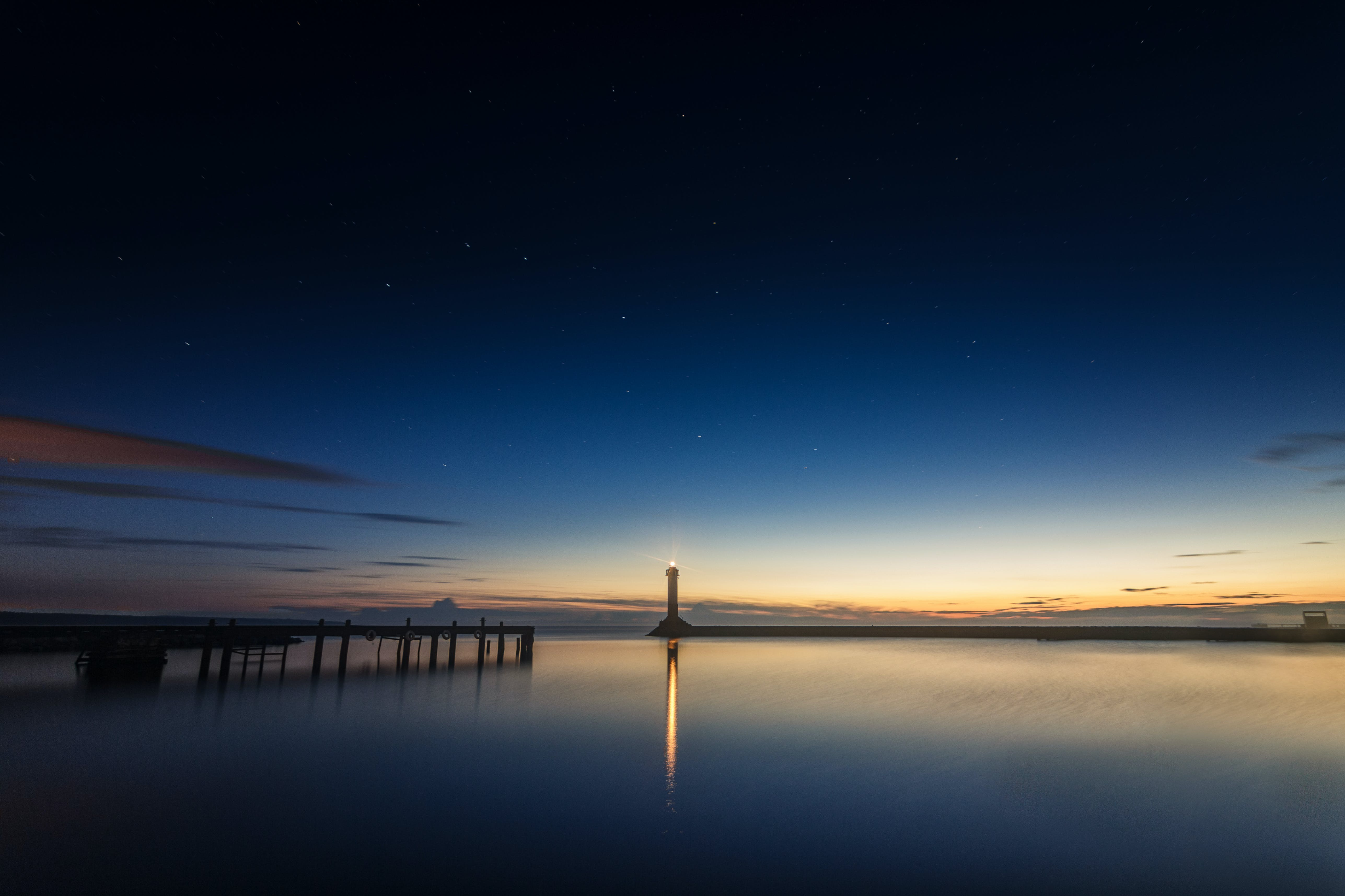 Calm Ocean Panoramic Photography