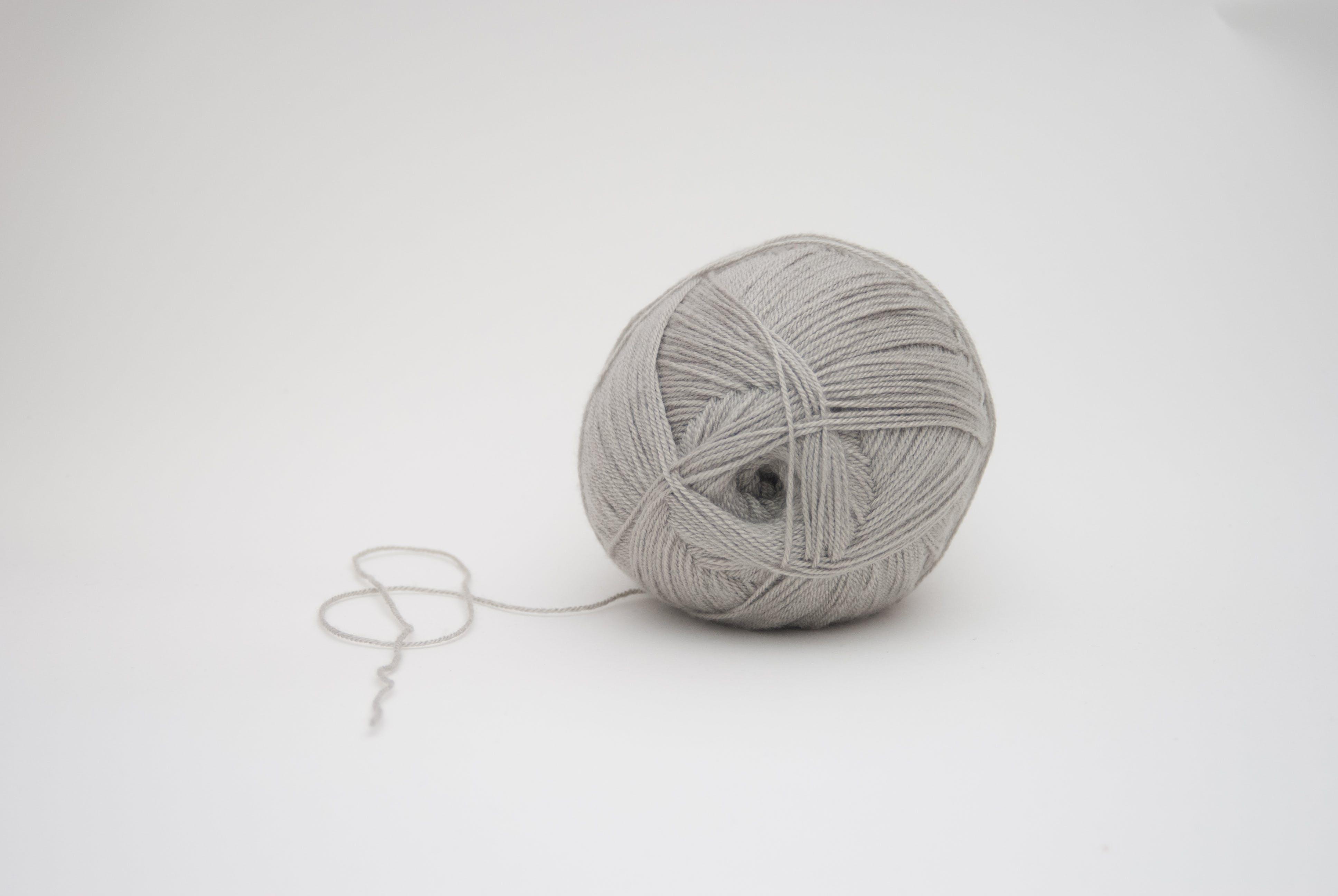 Gray Yarn Ball