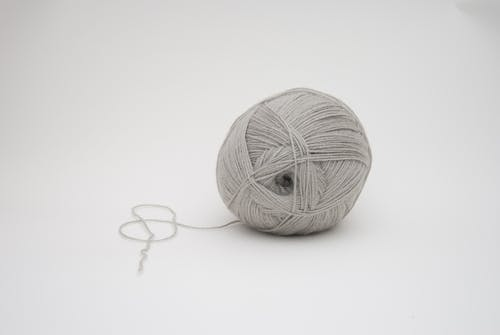 Gray Yarn Ball