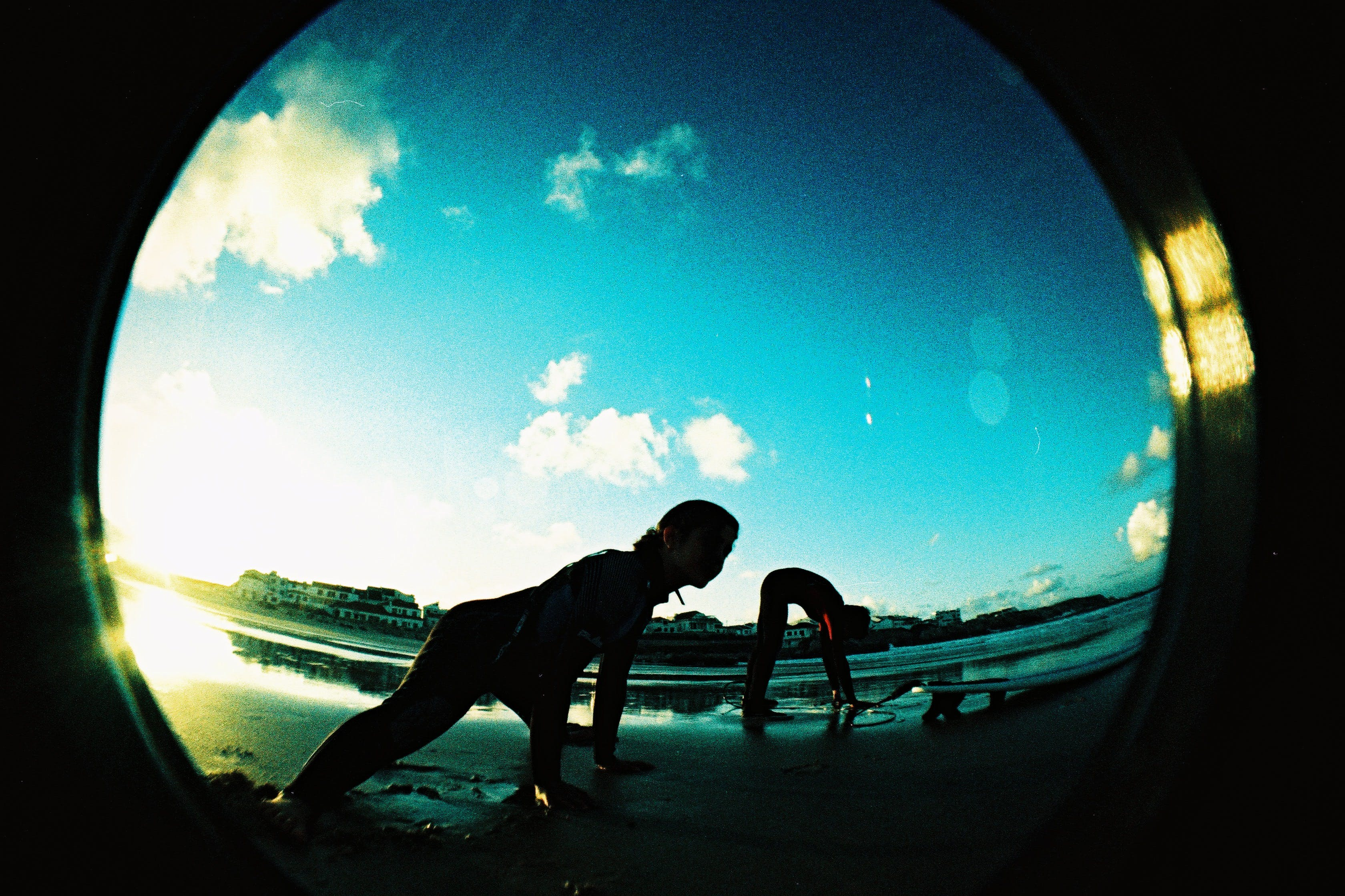 Fisheye Lens Showing Person at Daytime