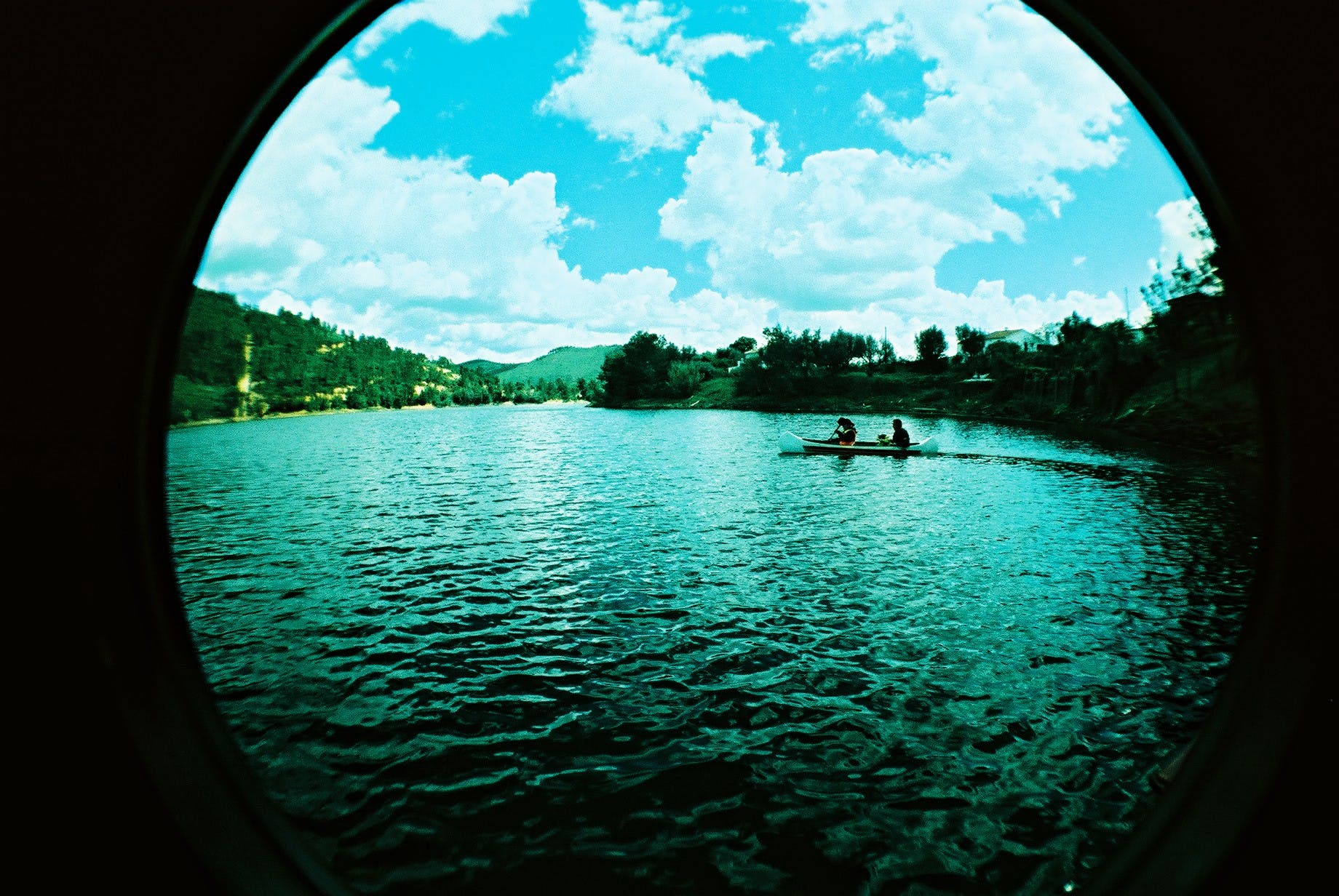 Fisheye Lens Photo of River