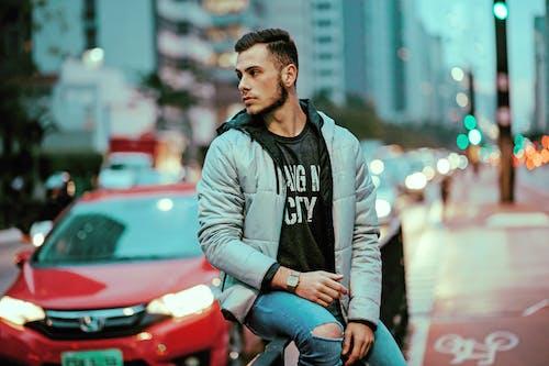 거리, 겨울, 남자의 무료 스톡 사진