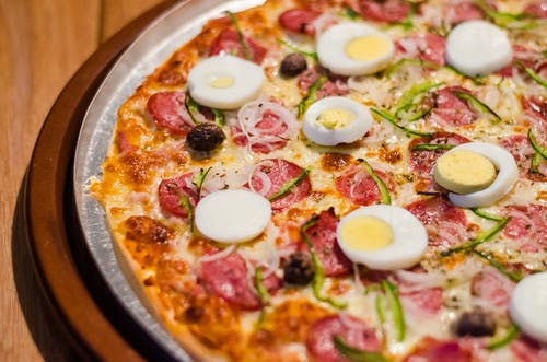Pepperoni Pizza With Eggs