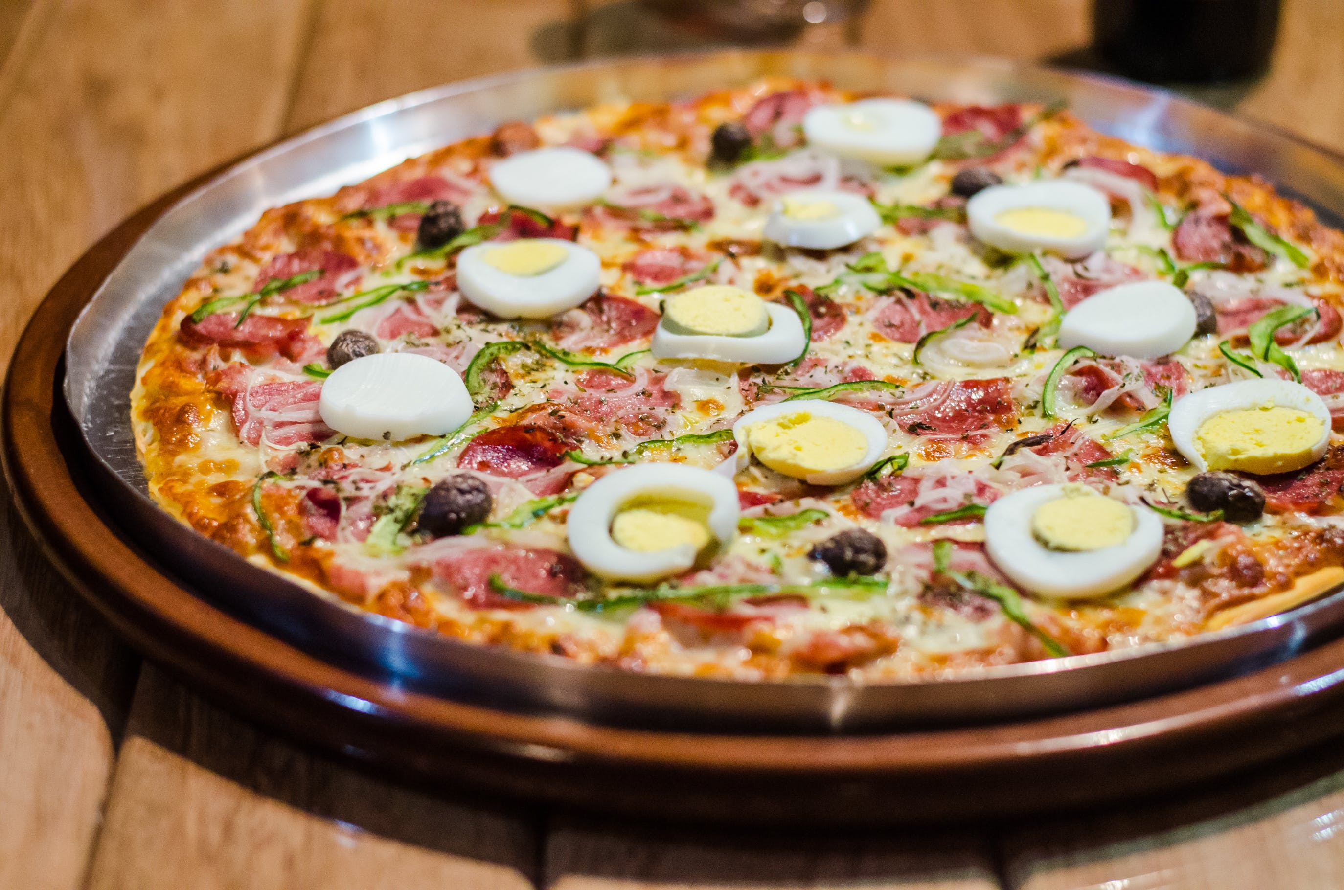Pizza With Egg Photo