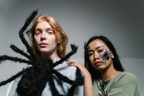 Women Afraid of Spiders