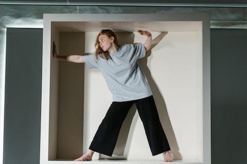 A Fearful Woman Having Claustrophobia