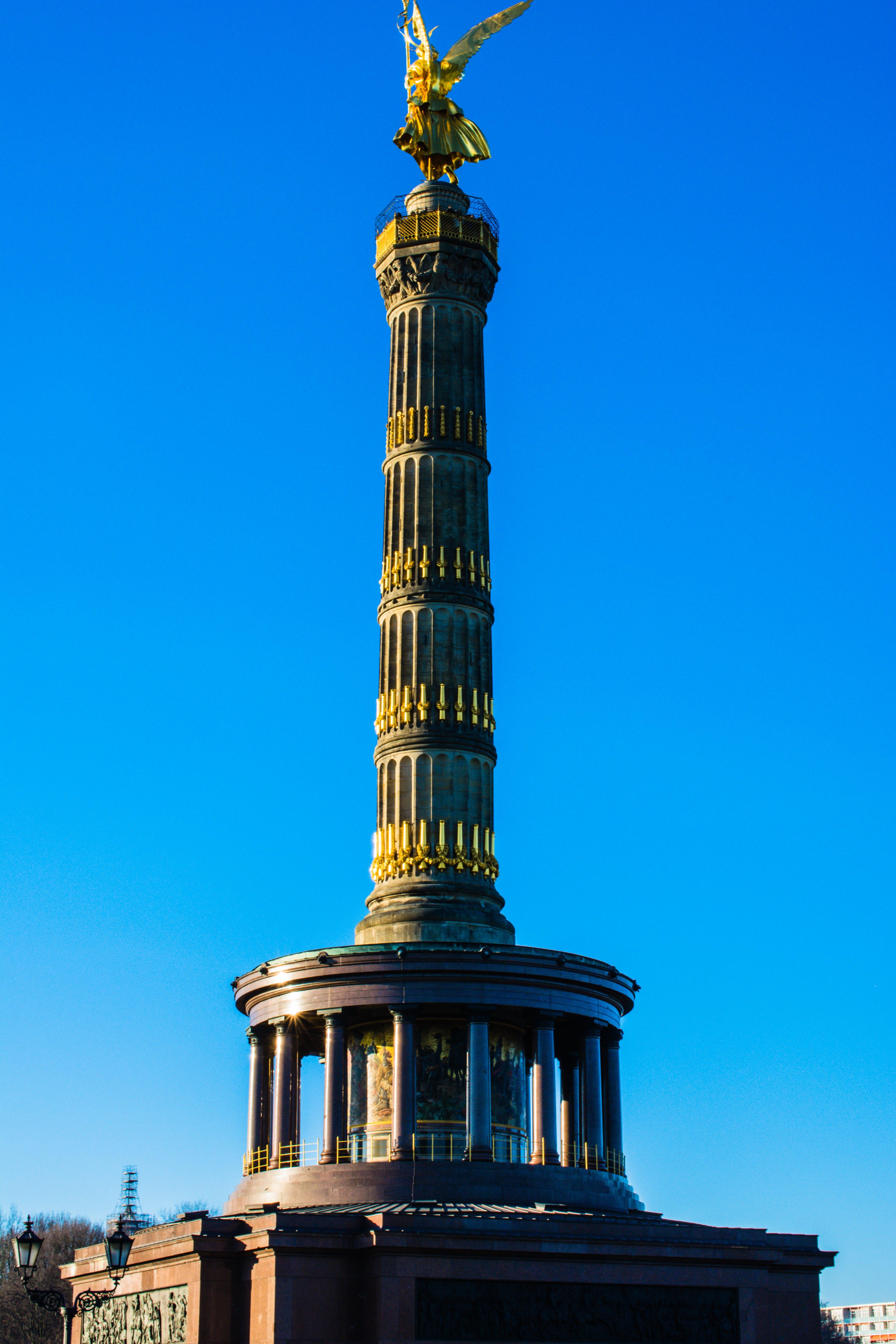 Free stock photo of berlin, blue sky, city, großer stern