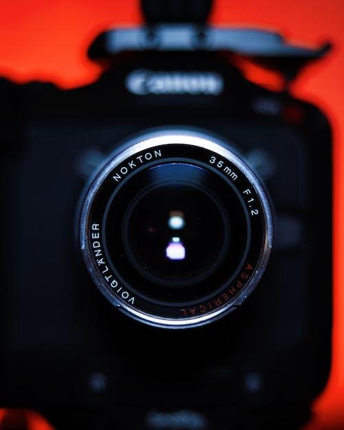 Close-Up Photo of a Black Digital Camera
