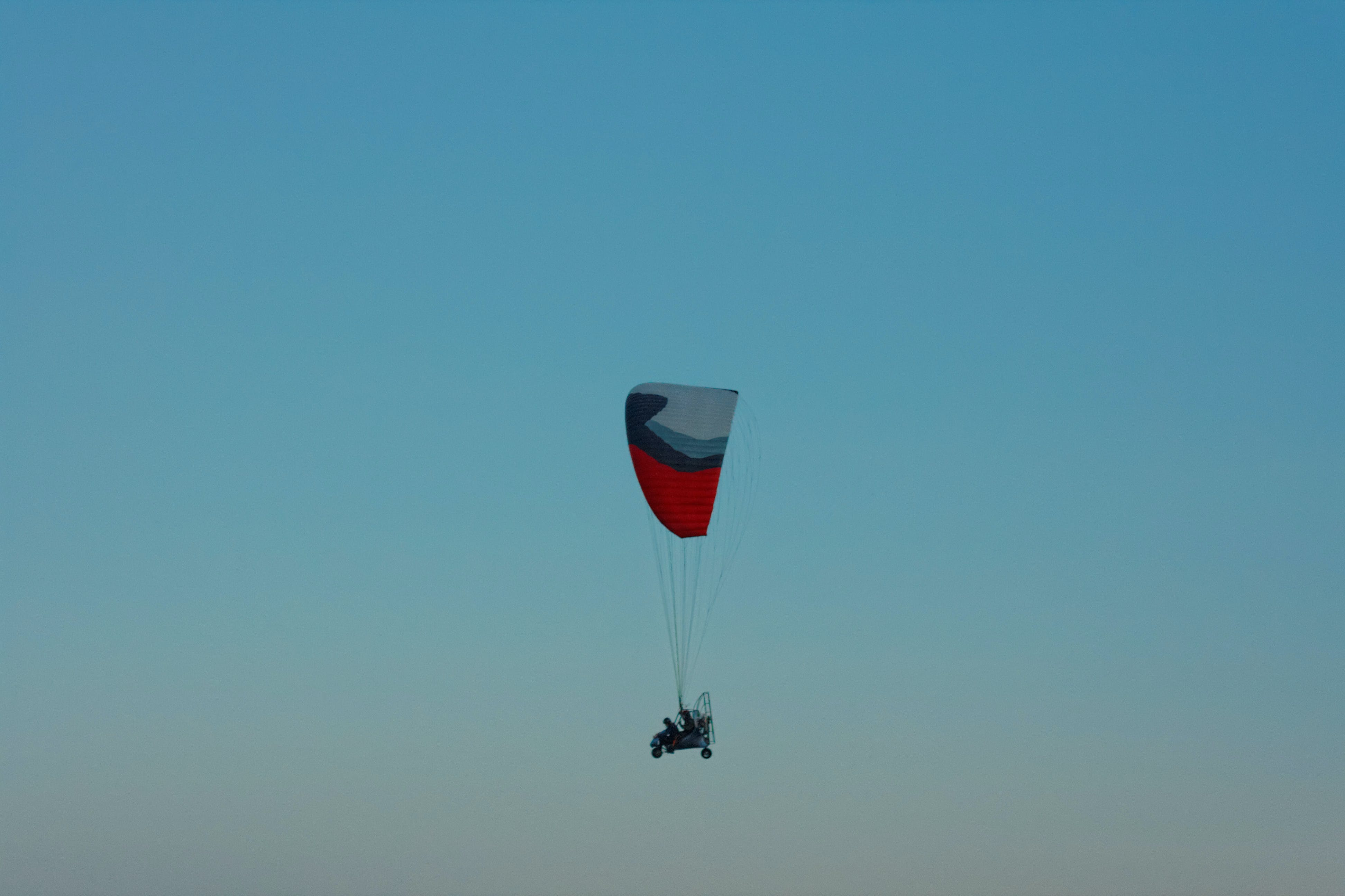 Free stock photo of flying, paraglider