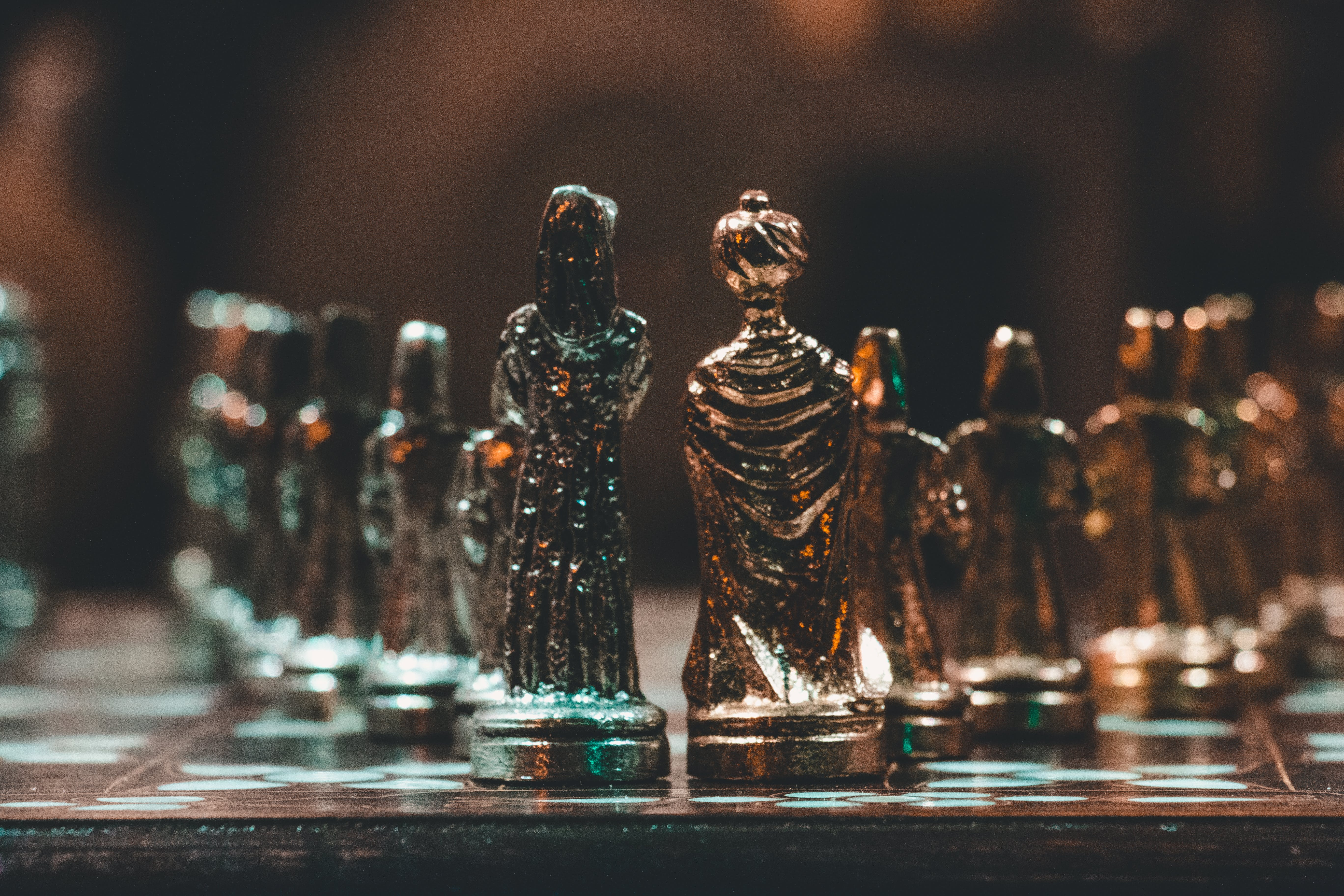 Bokeh Photo of Chess Pieces