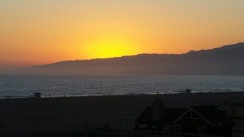Free stock photo of California sunset, santa monica beach, sunset