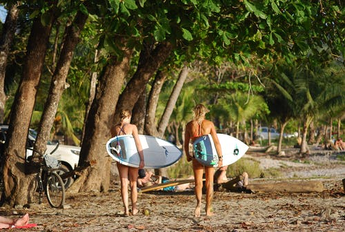 Free stock photo of girls who surf, surfers