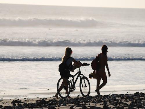 Free stock photo of beach biking