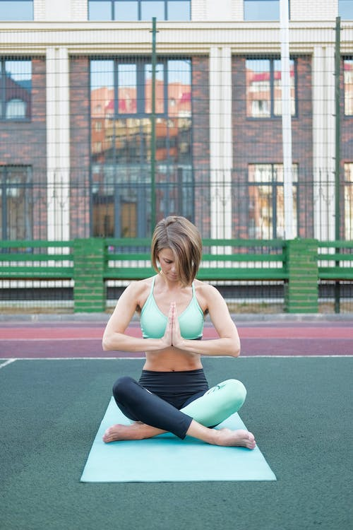 A Woman Doing Meditation
